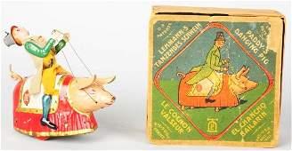 584 Tin Litho Lehmann Paddy  the Pig WindUp Toy
