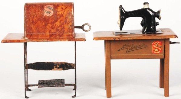 724: Lot of 2: Tin Singer Sewing Machine Still Banks.