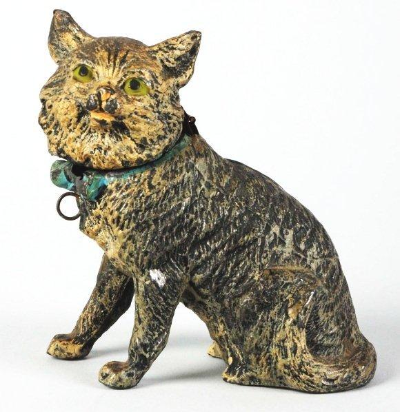 732: Pot Metal Cat Still Bank.