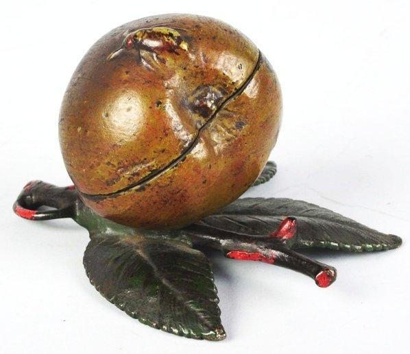 736: Cast Iron Apple Still Bank.