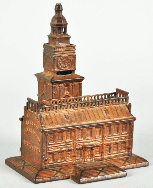 739: Cast Iron Independence Hall Still Bank.