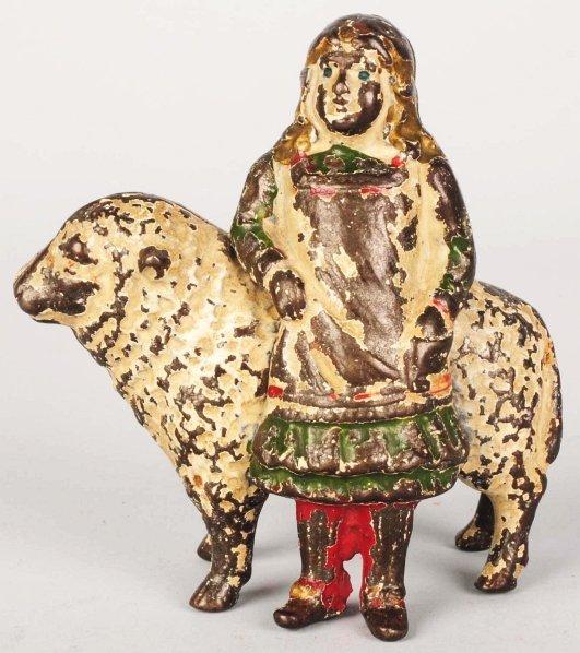 743: Cast Iron Mary & Her Little Lamb Still Bank.