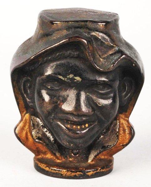745: Cast Iron 2-Faced Black Boy Still Bank.