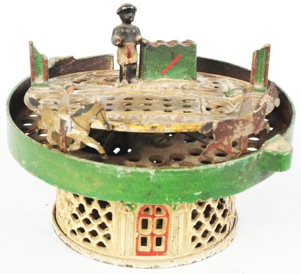 785: Cast Iron Horse Race Mechanical Bank.
