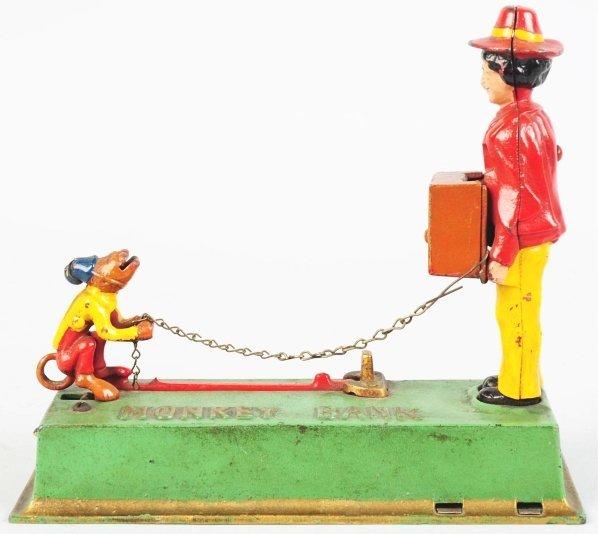 790: Cast Iron Monkey Mechanical Bank.