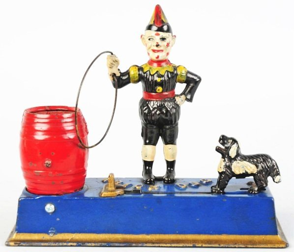 791: Cast Iron Trick Dog Mechanical Bank.