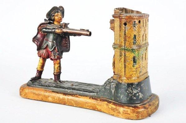 794: Cast Iron William Tell Mechanical Bank.