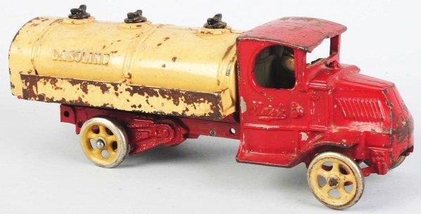 921: Cast Iron Arcade Gasoline Truck Toy.