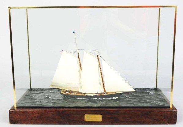 "1161: Wooden Racing Yacht ""America"" Boat Model."