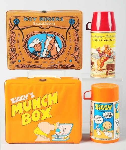 1171: Lot of 2: Vinyl Character Lunch Boxes.