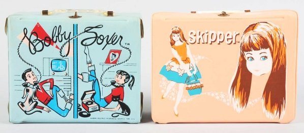 1174: Lot of 2: Teen-Themed Character Lunch Boxes.