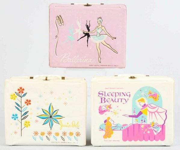 1175: Lot of 3: Vinyl Character Lunch Boxes.