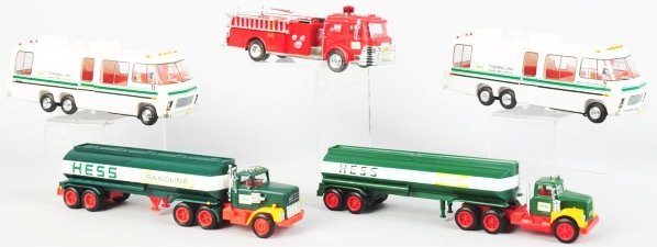 1213: Lot of 5: Hess Vehicle Battery-Operated Toys.