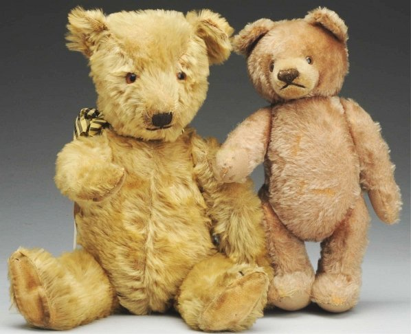 1268: Lot of 2 Mohair Bears.