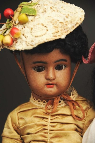 1310: Lot of 2 Brown Bisque Dolls. - 2