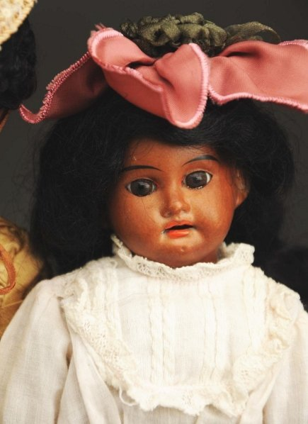 1310: Lot of 2 Brown Bisque Dolls. - 3