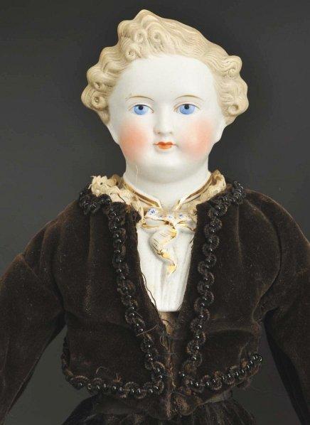 1313: Parian Man Doll. - 2