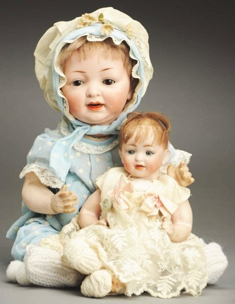 1372: Lot of 2 German Character Baby Dolls.