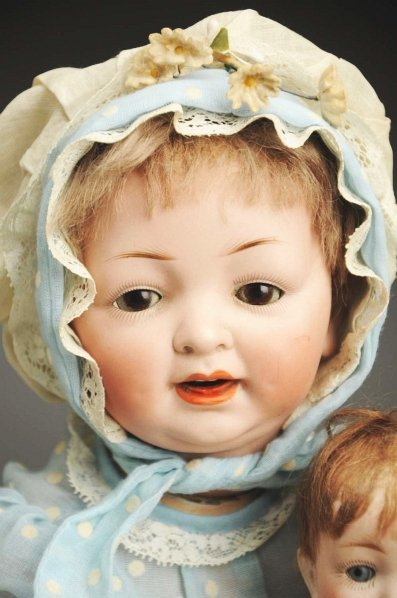 1372: Lot of 2 German Character Baby Dolls. - 2