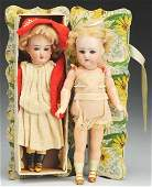 Lot of 2 German Bisque Child Dolls.