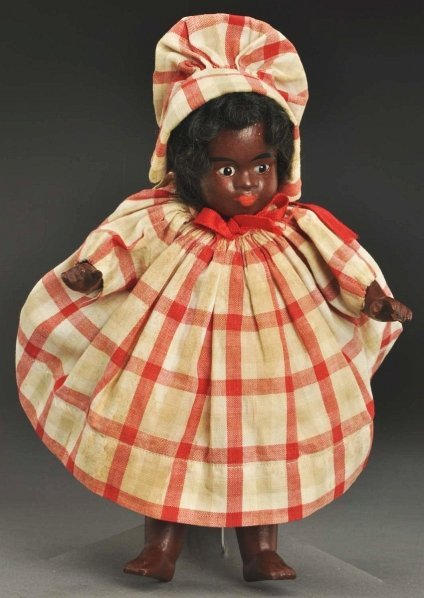 1616: Rare Black All-Bisque Character Doll.