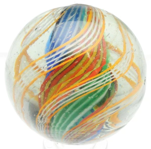 14: English Style Divided Core Swirl Marble.