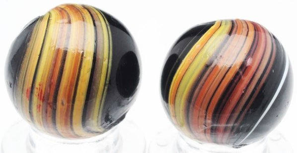18: Lot of 2: Indian Swirl Marbles.