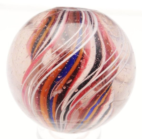 20: Divided Core Ribbon Swirl Marble.