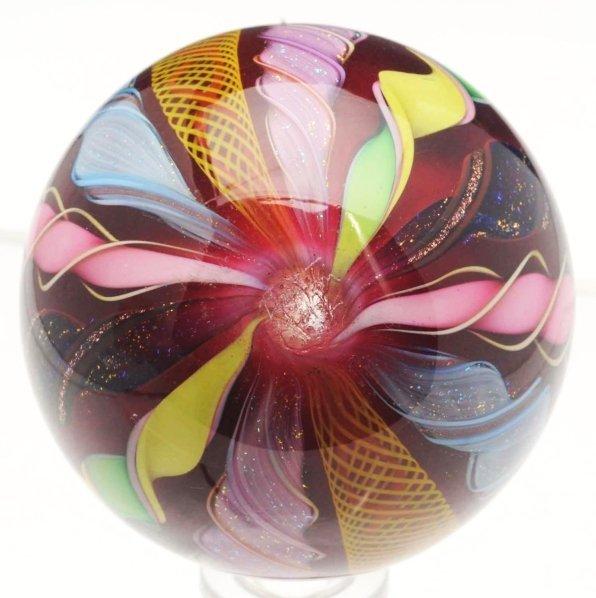 42: Filigrana Royal Ruby Clown Marble. - 4