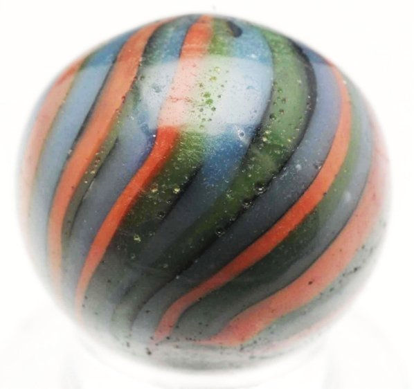 59: Unusual Cased Clambroth-Type Marble.