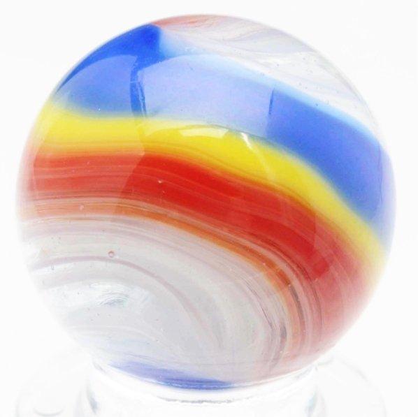 378: Great Akro Agate Hybrid Popeye Marble.