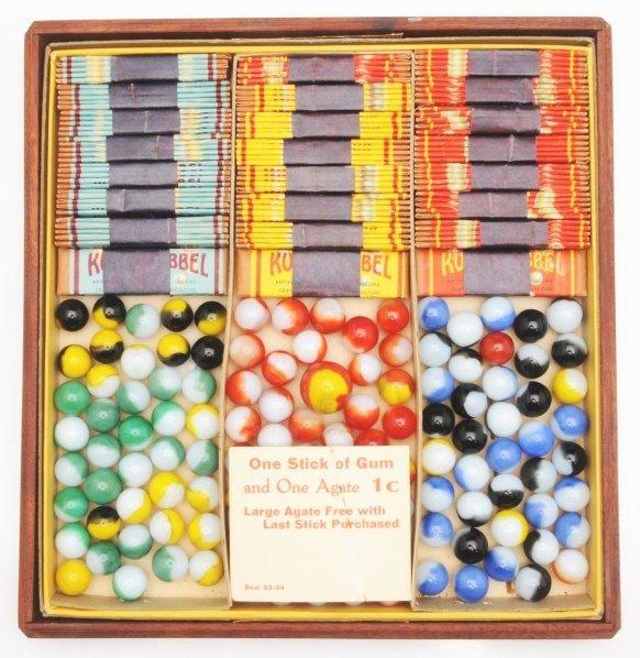 380: Akro Agate Bubble Kullerbubbel Gum Marble Set.