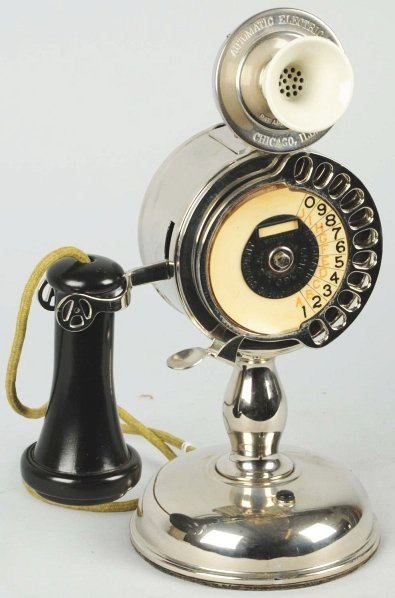 283: AE Strowger Pot Belly Candlestick Telephone