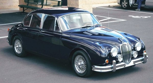 605: 1960 Jaguar Mark II 3.8 4-Door Sedan Car.