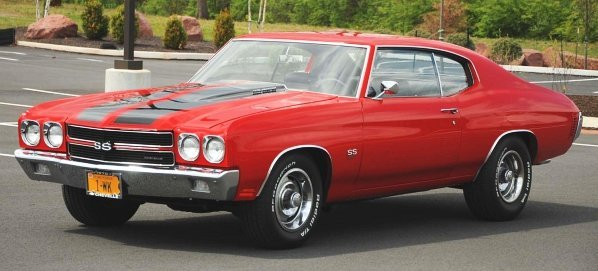 606: 1970 Chevrolet Chevelle SS 2-Door Car.