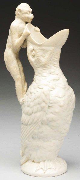 608: Porcelain Bird Pitcher.