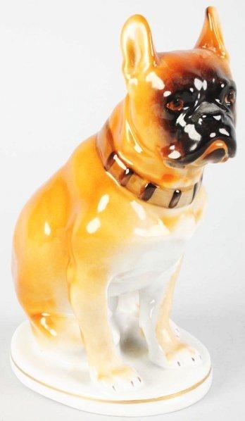 610: Porcelain Sitting Boxer Dog.