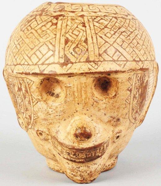 620: Pottery Vase with Monkey Face.