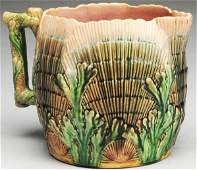 628: Majolica Large Water Pitcher.