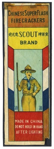 1: Boy Scout 70-Pack Firecracker Label.