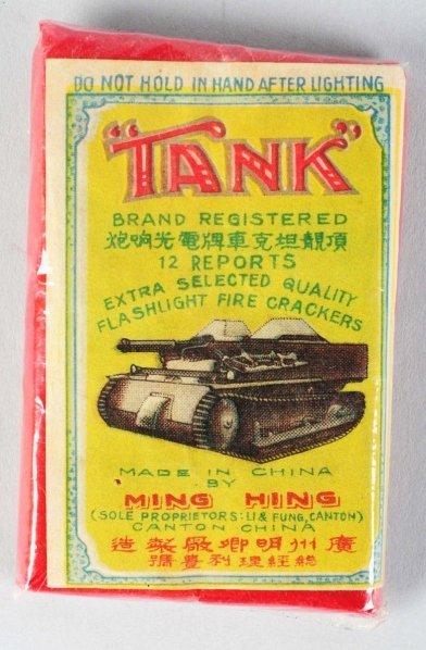 """9: """"Tank"""" 12-Pack Firecrackers."""