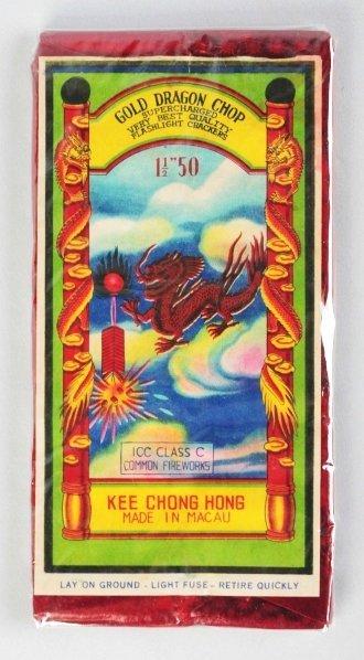"14: Gold Dragon Chop 50-Pack 1 - 1/2"" Firecrackers."