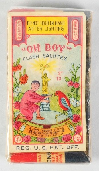 "705: Oh Boy 2"" 10-Pack Logo Firecrackers."