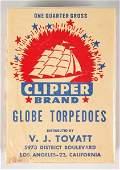 716 Clipper Brand Globe Torpedoes 14 Gross