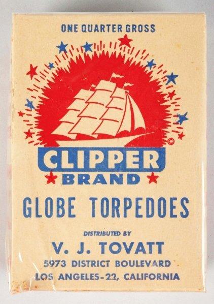 716: Clipper Brand Globe Torpedoes 1/4 Gross.