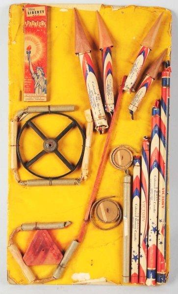 721: Salesman's Sample Firecracker Board.