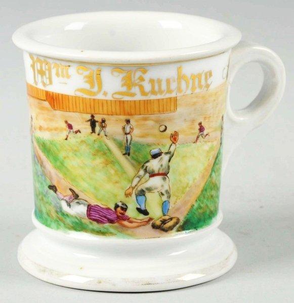 53: William J. Kuehne Baseball Shaving Mug.