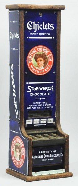 604: Chiclets Stollwerck Chocolate Vending Machine.