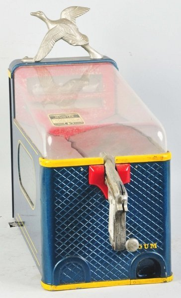 611: Duck Shoot 1¢ Coin-Op Machine with Gum Vendor.