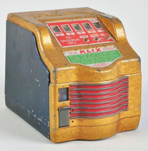 "613: Groetchen 1¢ ""KLIX"" Blackjack Coin-Op Machine."